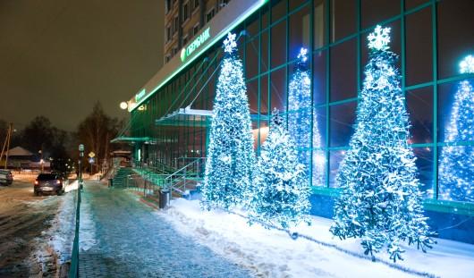 Новогодняя иллюминация в Ижевске сохранится до конца зимы