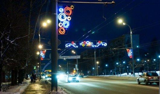 Иллюминация в Ижевске продержится до весны