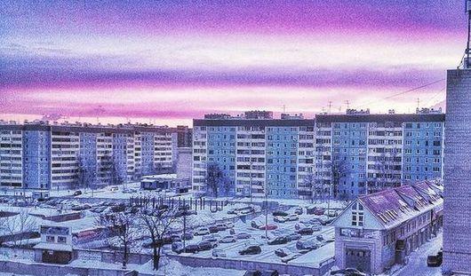 Горожане делятся в соцсетях красивым рассветом в Ижевске