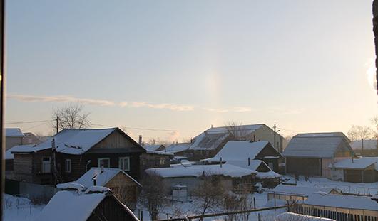 Ижевчанам предоставилась возможность увидеть зимнюю радугу