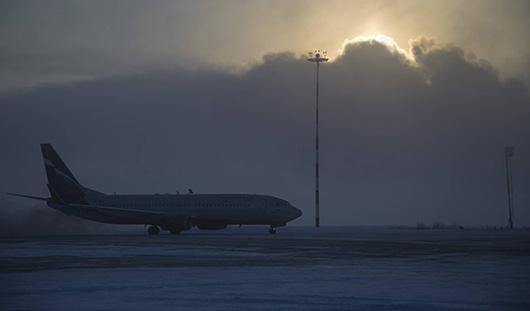 Самолет Ижевск-Москва был задержан из-за непогоды