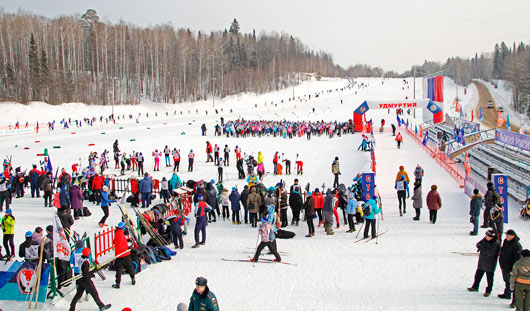 «Лыжня России-2015» в Ижевске: 4-летний лыжник и двойник Кулаковой