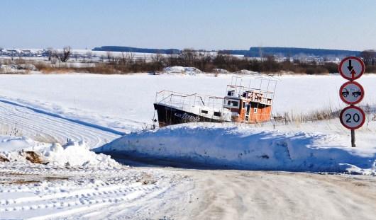 В Удмуртии на ледовой переправе Кама - Соколовка снижена грузоподъемность
