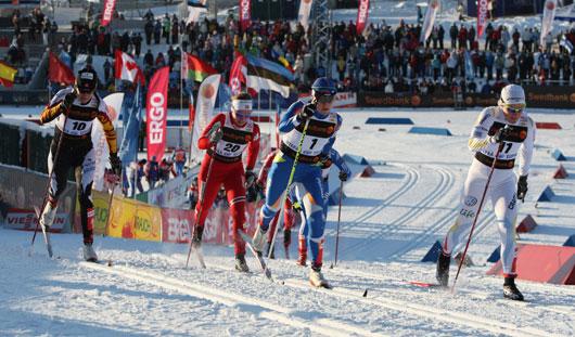 Удмуртские лыжники Константин Главатских и Александр Уткин приняли участие в этапе Кубка мира по лыжным гонкам