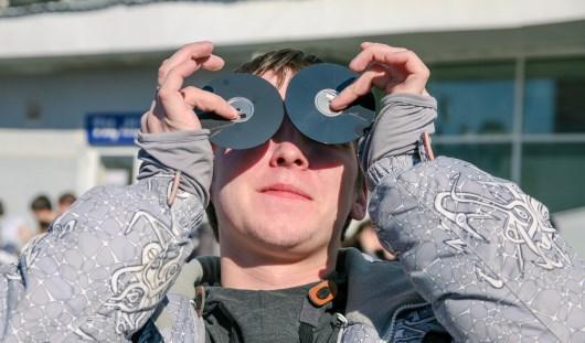 Как ижевчане наблюдали солнечное затмение