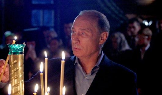 Путин принял участие в пасхальном богослужении в храме Христа Спасителя в Москве