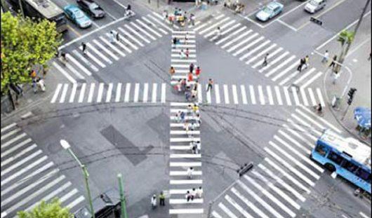 Диагональные пешеходные переходы появятся в Ижевске в 2015 году
