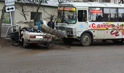 В Удмуртии погиб пассажир «шестерки», которая столкнулась с автобусом