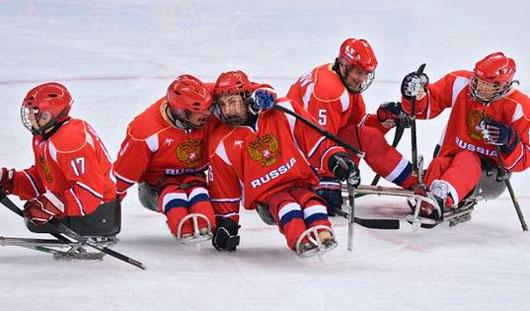 Следж-хоккеисты из Удмуртии в составе сборной России выиграли у сборной Италии со счетом 3:0
