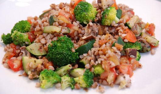 Диета для печени: яркие овощи и гречка