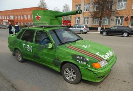 Как ижевчане украшают авто ко Дню Победы