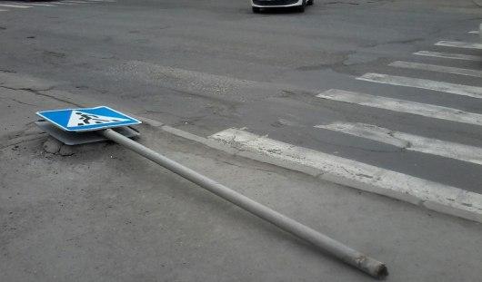 В Ижевске около кинотеатра «Дружба» восстановят знак «пешеходный переход»