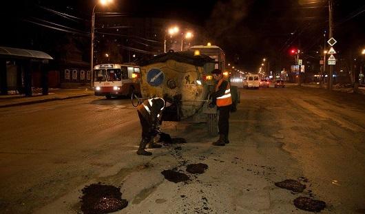 В Ижевске 15 мая отремонтировали дорожное полотно на 466 квадратных метрах