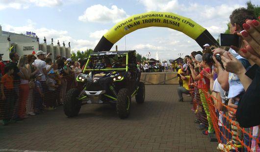 Фотофакт: в Ижевске стартовала самая зрелищная в России гонка на квадроциклах