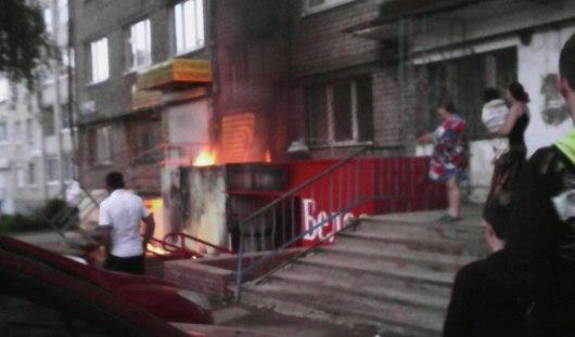 В Ижевске произошел пожар в магазине алкогольной продукции