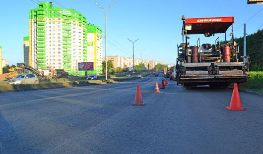 В Ижевске на улице 40 лет Победы уложат два слоя асфальта