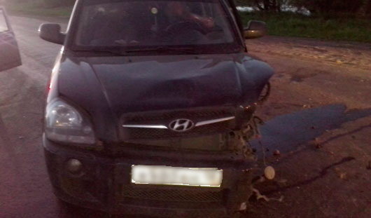 В Удмуртии полицейский попал в ДТП
