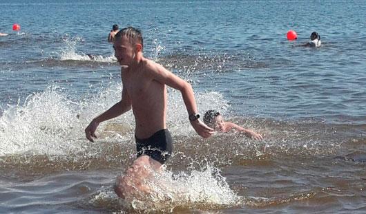 Жара в Ижевске: горожане отправились на пляж