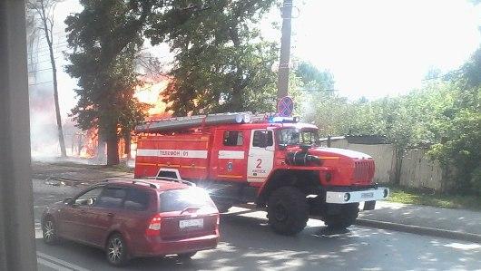 На Пушкинской у Администрации Ижевска произошел пожар