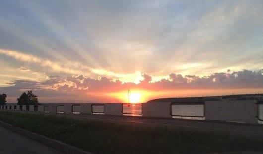 Фантастический закат в Ижевске