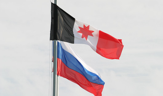 Два сарапульчанина украли флаги России и Удмуртии