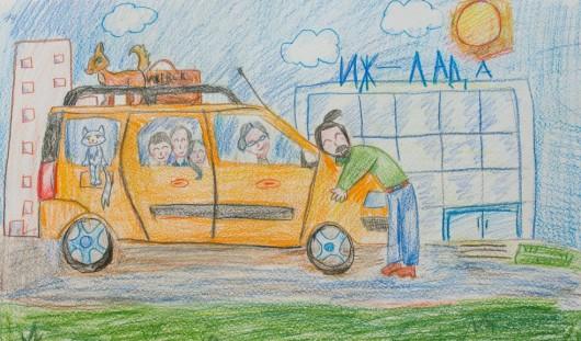 Маленькая ижевчанка выиграла автомобиль Lada Largus
