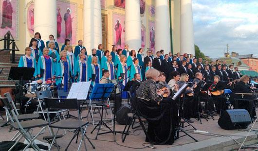 В Ижевске в преддверии Дня города прошли «Парад оркестров» и «Большой хоровой собор»