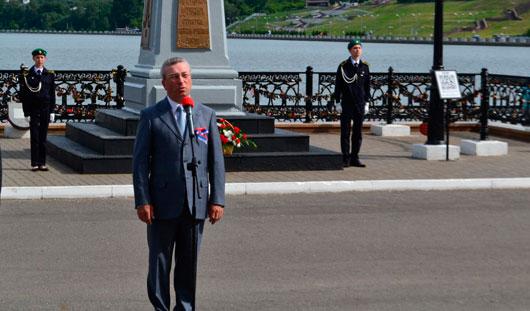 День города в Ижевске начался с торжественного митинга на набережной пруда