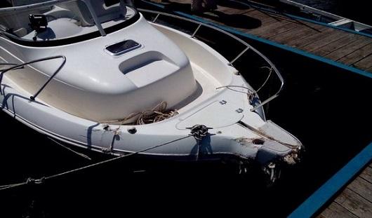 Пассажиров катера, врезавшегося в пирс, выкинуло за борт от столкновения