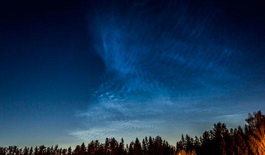 Накануне над Ижевском наблюдались серебристые облака