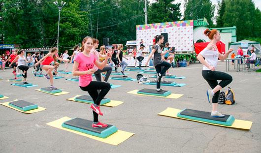 Большой фитнес-фестиваль прошел в Ижевске в День молодежи