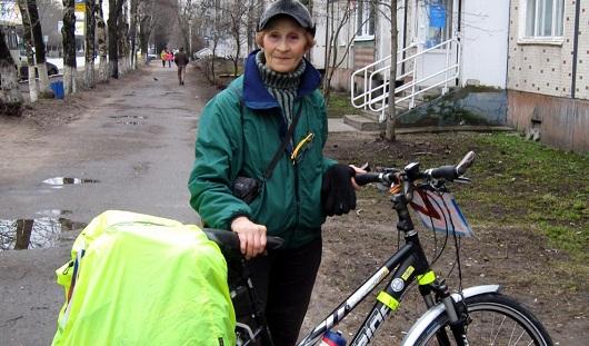 Пожилая рекордсменка из Твери посетила Ижевск на велосипеде