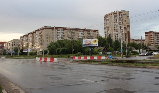 В Ижевске начался ремонт перекрестка улиц К. Маркса и Чугуевского