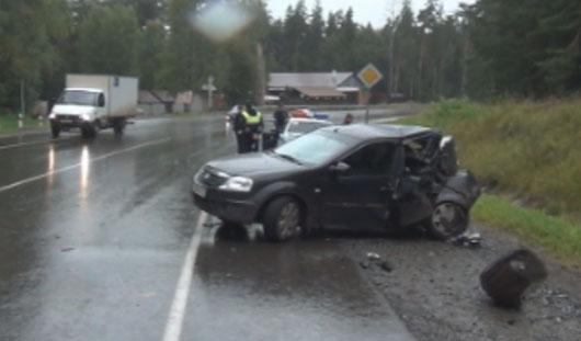 Пьяный водитель попал в аварию на трассе Ижевск - Як-Бодья