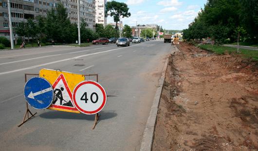Дорожники отремонтировали около 1,7 тысяч кв. м городских улиц в Ижевске