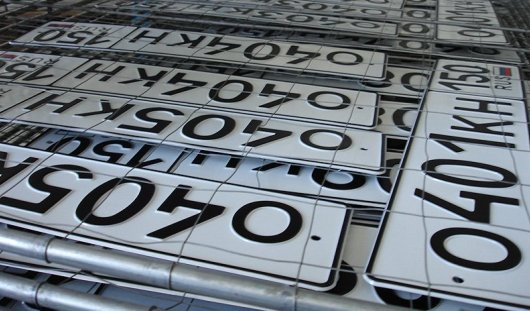 В России собираются продавать красивые номера на машины