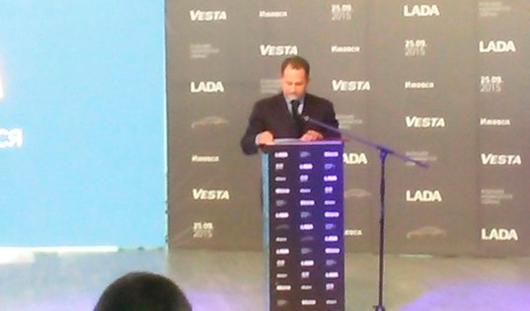 В Ижевске началась церемония запуска серийного производства «Lada Vesta»