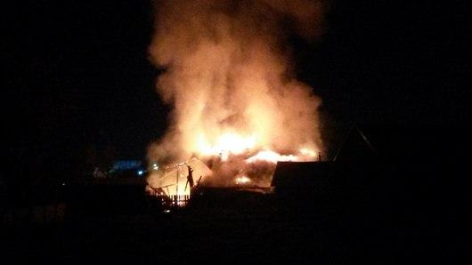 27 сентября сгорел дом в Завьялово
