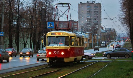 В Ижевске отметили день рождения самого старого трамвая