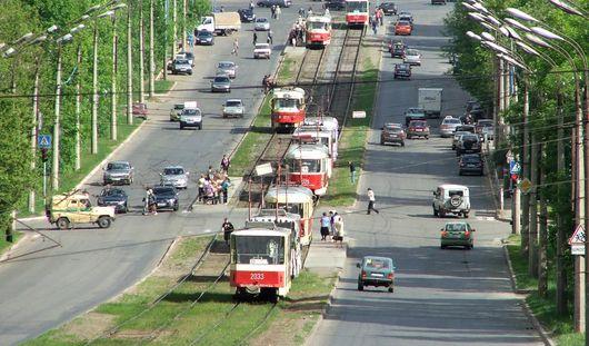Из-за повреждения кабелей в Ижевске приостановлено движение трамваев до Автозавода