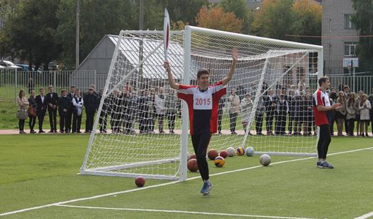 Новые спортивные площадки в этом году появились в 7 школах Ижевска