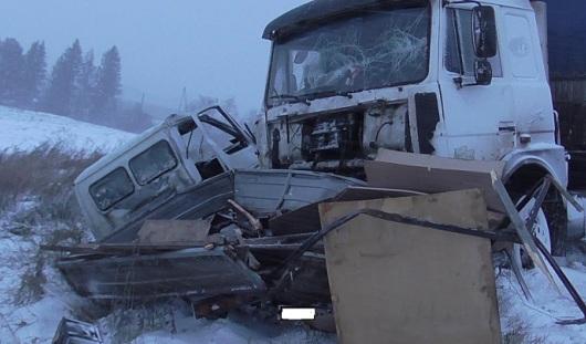 В Удмуртии ГАЗель, совершая обгон, столкнулась с грузовиком