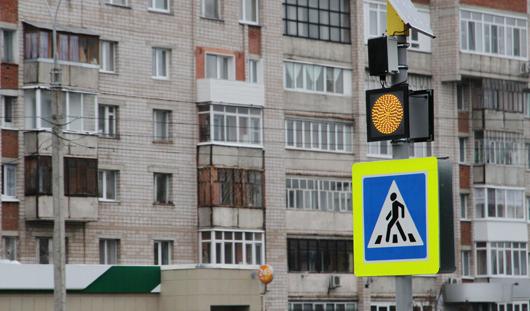 В Ижевске модернизируют пешеходные переходы вблизи школ и детских садов