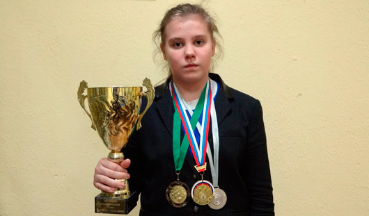 Ижевчанка Анастасия Архангельская выиграла молодежное Первенство Мира по международным шашкам