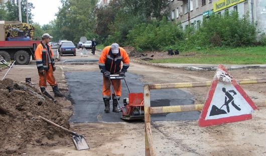 75 придомовых территорий возле 94 домов отремонтировали в Ижевске в 2015 году
