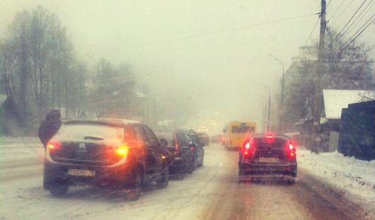 Непогода в Ижевске: что происходит на дорогах города?