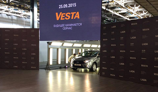 У Lada Vesta, которую производят в Ижевске, появился свой сайт