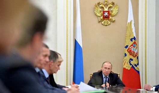 Президент России Владимир Путин проводит ежегодную пресс-конференцию