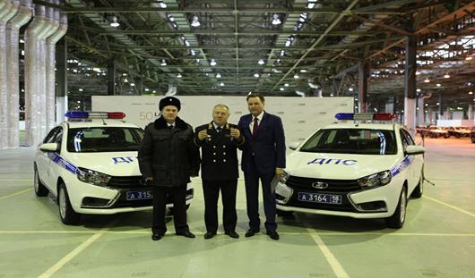 Ижевская Госавтоинспекция получила два автомобиля «LADA Vesta»
