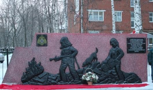 В Ижевске открыли мемориал пожарным-спасателям